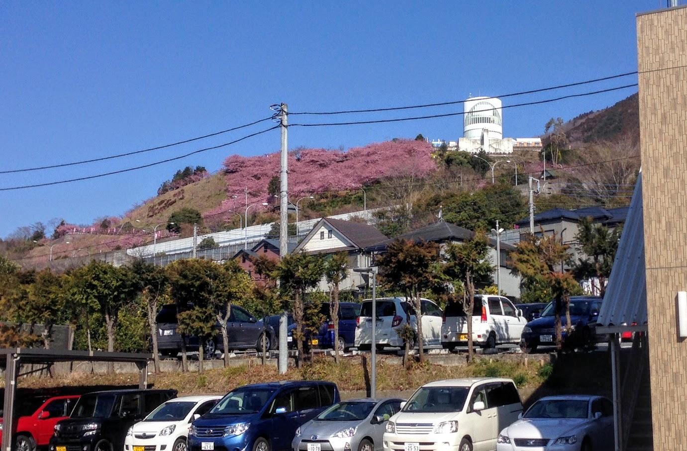 2016年2月19日。松田町役場前より